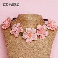 CC & BYX Schöne Rosa Blume Halskette Für Frauen Mädchen Mit In Jäten Party Geschenke Für Ihre Liebhaber Braut zubehör 4931