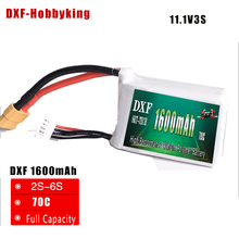 купить 2017 DXF High Quality 11.1v 1600mAh 3S 70C LiPo Battery For RC Helicopter RC Car Boat Quadcopter Dronel FPV Toys Parts по цене 992.61 рублей