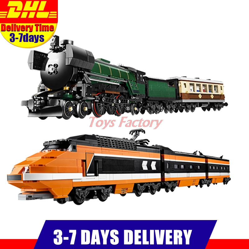 LEPIN 21005 Emerald Night Train Expert +LEPIN 21007 The Horizon Express Train Model Building Blocks Bricks Set Clone 10233 10194 2016 new lepin 21005 creator series the emerald night model building blocks set classic compatible legoed steam trains toys