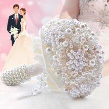 Bride Holding Flowers Romantic Bridesmaid Wedding Bouquet Roses Diamond de noiva Customized