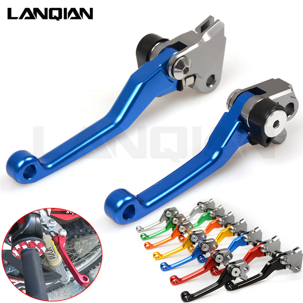 CNC Dirt bike Pivot Lever For YAMAHA WR450F 2005-2015 Motorcycle Brake Clutch Levers WRF 450 WR 450F With WR 450 F LOGO motorcycle brake lever and hand grip dirt bike pivot brake clutch levers for kawasaki kx65 kx80 kx85 kx100 kx 80 85 2001 2016