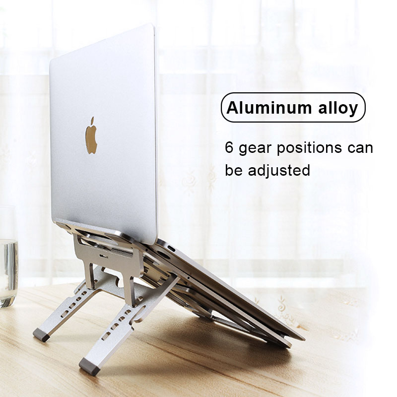 COOLCOLD Folding Aluminum Notebook Laptop Anti slip Cooling Pad Stand Holder for Apple MacBook Mac Book