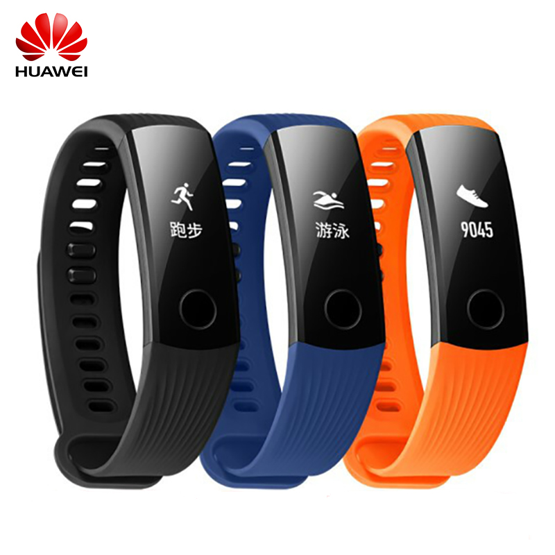 Original Huawei honor Banda 3 Smart wristband Bluetooth Frecuencia Cardíaca OLED Monitores 5atm impermeable Swim fitness Sleep Tracker