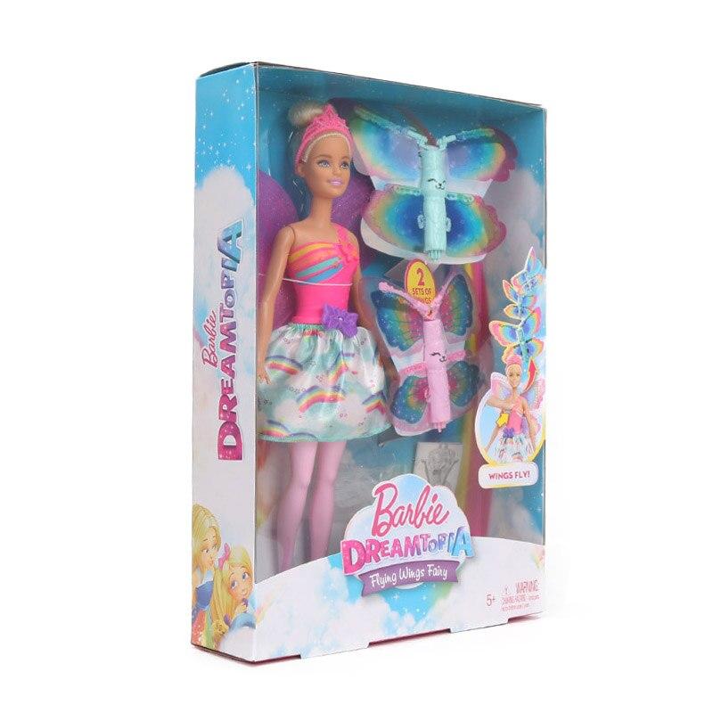 Barbie Dreamtopia Rainbow Cove Flying Wings Fairy Doll Mattel FRB08
