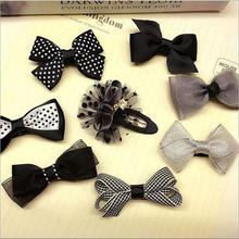 8pcs/lot bowknot baby girls kids hair clips pin bows headwear hairpin accessories for children hair ornaments hairclip headdress