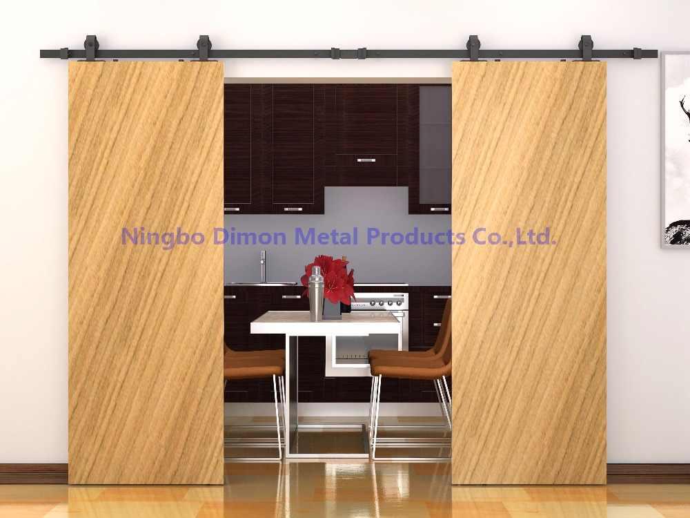 Бесплатная доставка Dimon Высококачественная деревянная раздвижная дверь оборудование DM-SDU 7208 без рельса
