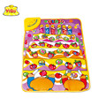 YIQU Fruit Music Game Mats Touch Type Electronic Mat Multifunction Baby Play Crawling Mat Learning carpet with music and letters