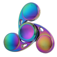 Rainbow Spinner Fidget Toy EDC Spinner Hand Colorful Metal Spinner Fidget For Autism And ADHD Anti Stress Focus Toys