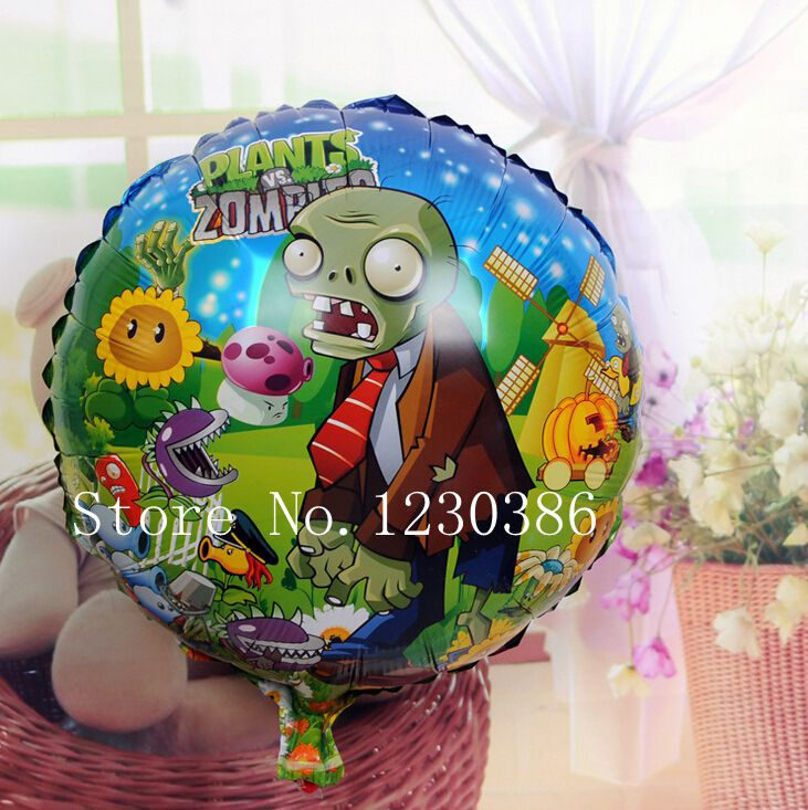 5x PLANTS VS ZOMBIES FOIL HELIUM BALLOON PARTY SUPPLIES LOLLY LOOT BAGS