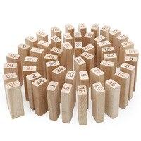 51 pz Blocchi di Legno Domino Blocchi Stack Torre Giochi per Bambini di Apprendimento In Età Prescolare
