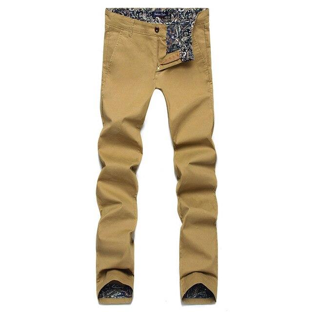 Мужчины Брюки 2017 Новая Коллекция Весна Мода Повседневная Мужчины Брюки Slim Fit бизнес Дизайн мужчины брюки Хлопка Высокого Качества Брюки Армии 28-46