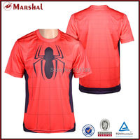 2015 New style sublimation football shirt red football jersey cheap high quality dry fit football uniform
