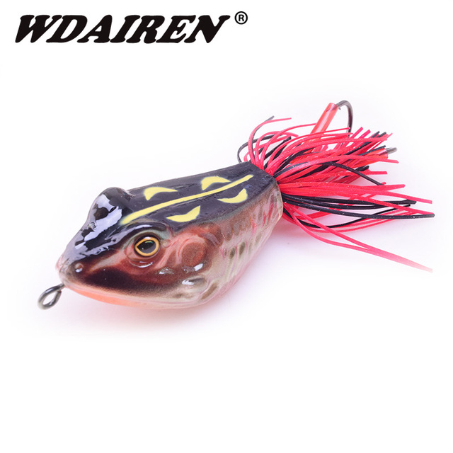 High Quality Kopper Live Target Frog Lure 90mm 12.5g Snakehead Lure Topwater Simulation Frog Fishing Lure 3D Hard Bass Bait