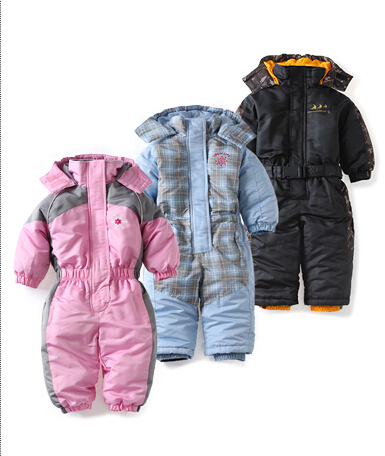 ФОТО baby snowsuit autumn winter windproof  girl boys romper polyester ropa de bebe clothes
