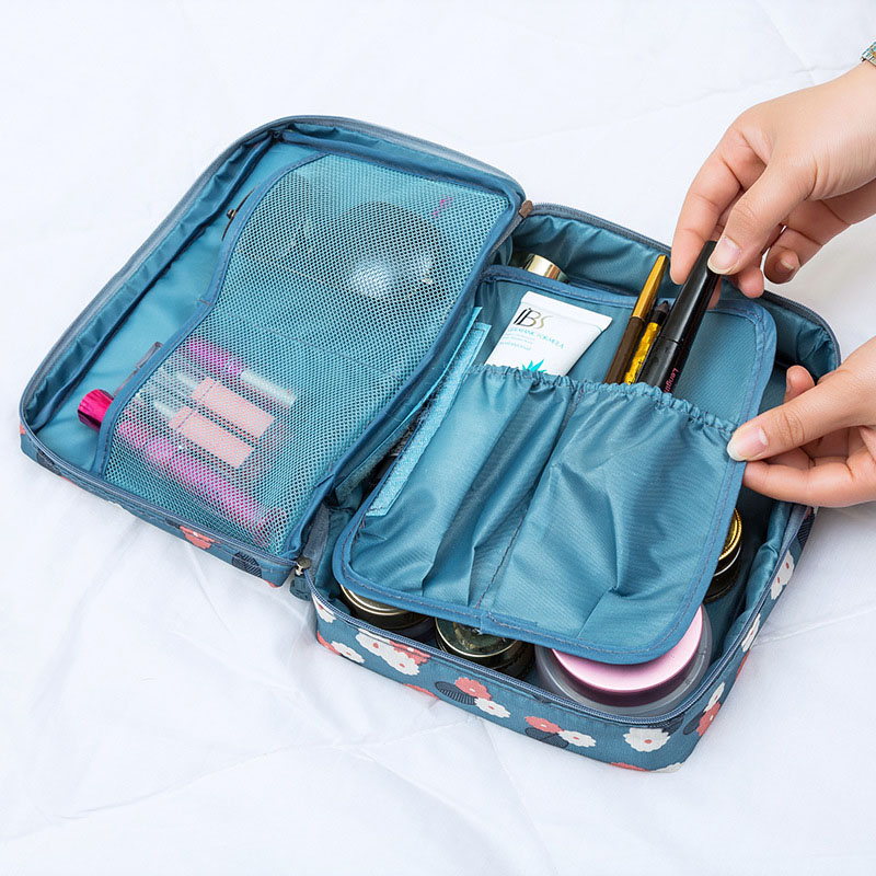 Women Cosmetic Bag Zipper Makeup Bag Female Storage Package Designer Lady Toiletry Wash Pouch Girl Large Capacity Travel Bags in Cosmetic Bags Cases from Luggage Bags