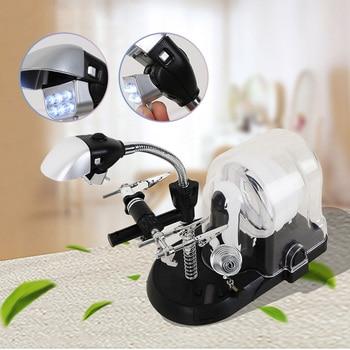 Multifunctional Handheld and Desk Magnifier Lamp with Soldering Stand Holder and LED Light 110V/220V