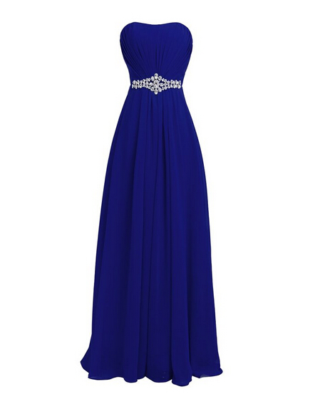 2016 Hot Selling Cheap Blue White Purple   Bridesmaid     Dresses   Sweetheart Sleeveless with Lace Up Back Chiffon Wedding Party Gowns