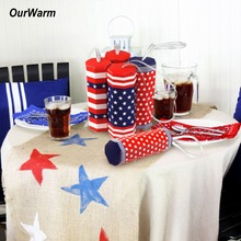 OurWarm Mixed Pattern Firework Candy Boxes 4th of July Paper Decorations 30pcs Independance Day 12.5*5*5cm
