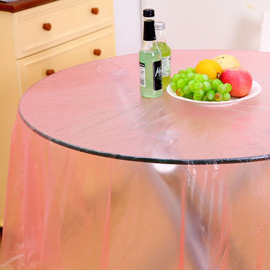 8 Pcs/Roll Transparent Plastic Disposable Tablecloth Tablecover Party  Outdoor Picnic Check Oil Cloth Yardage Tablecloth One Time In Tablecloths  From Home ...