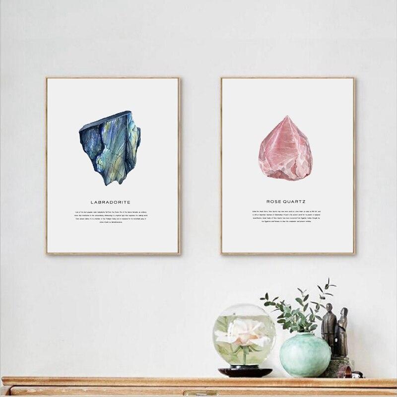 Watercolor Crystals Geode Art Print