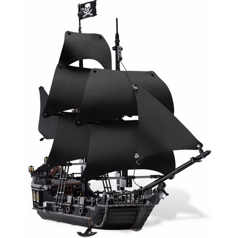 New 16006 Pirates of the Caribbean The Black Pearl Model set Building Blocks Kits Funny Bricks Educational Toys For Boys Gifts 16006 804pcs pirates of the caribbean the black pearl ship model building kits blocks bricks toys gift 4184