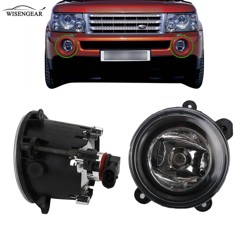 WISENGEAR Car Front Fog Light Lamp For Land Rover LR Discovery 2 LR3 Range Rover Sport XBJ000080 XBJ000090 Left Right Foglight / bellows front right left 2nd generation air suspension spring for land rover range rover 2 1994 2002 p38 gerneration ii