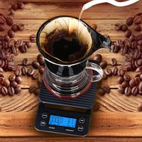 Portable Electronic Scales 3kg 0.1g Drip Coffee Scale With Timer High Precision LCD Digital Display Kitchen Scale  Sal L JDH99