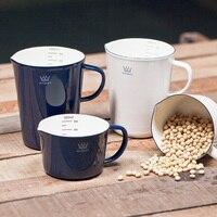 Enamel Mug With Handgrip Coffee Cup Handmade High Quality Cup Storage Mug