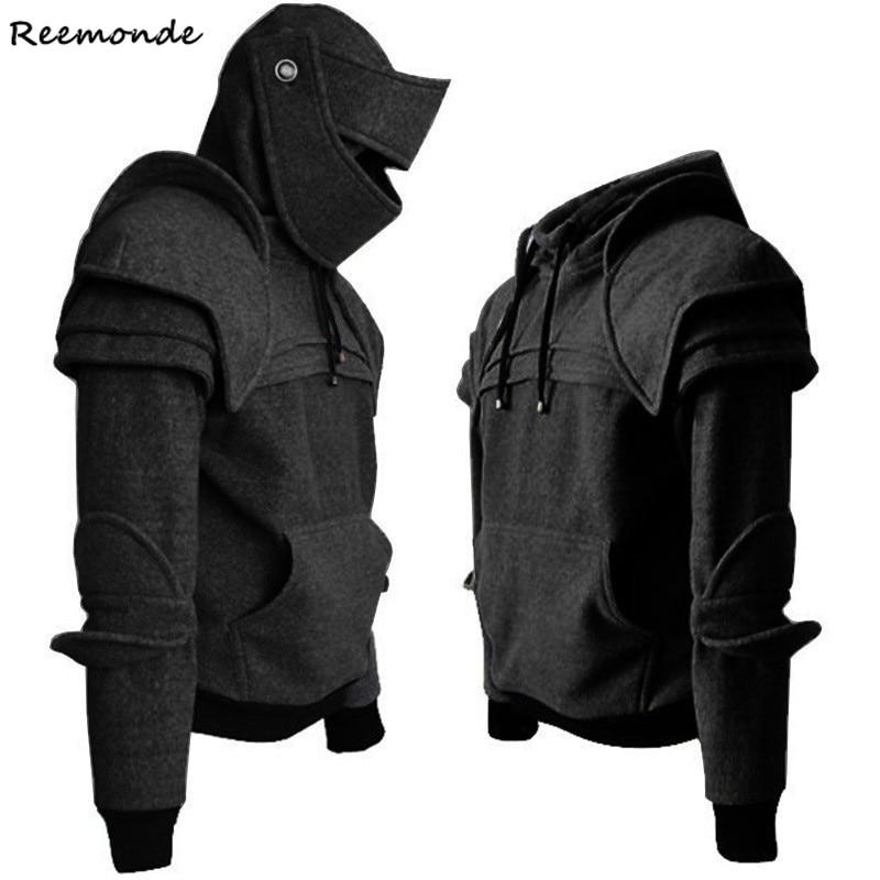 Winter Coat Men Top Hoodie Sweatshirt Trench Coat Long Sleeve Short Jacket Coat Pullover Men Winter Cropped Hoodies Men Mask
