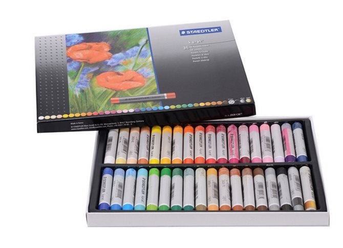 STAEDTLER 2420 C36 36 color Round Shape 70x11mm Oil Pastel for Artist Students Drawing Pen School Stationery Art Supplies touchnew 60 colors artist dual head sketch markers for manga marker school drawing marker pen design supplies 5type