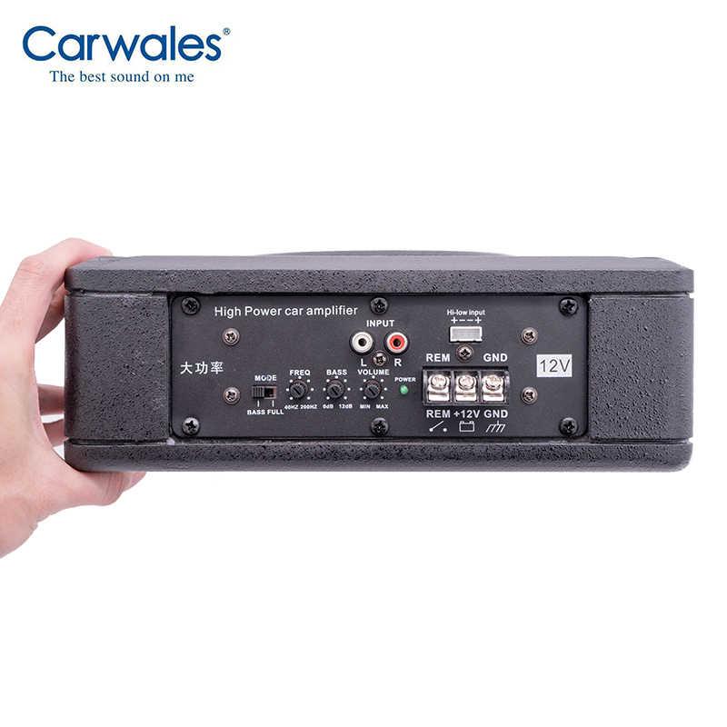 "Carwales 8 インチ車超薄型 8 ""サブウーファーアンプスピーカーハイパワー 300 ワットの下で車両シートアクティブ低音オーディオと高音"