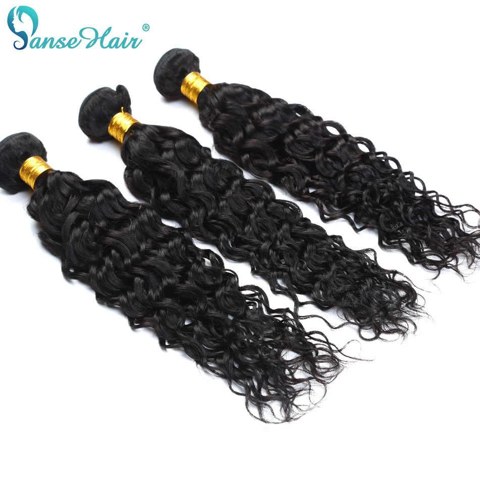 Panse волосы индийские волны воды натуральные черные человеческие волосы 4 пучка с закрытием не завитые здоровые волосы на заказ 8-28 дюймов Смешанные