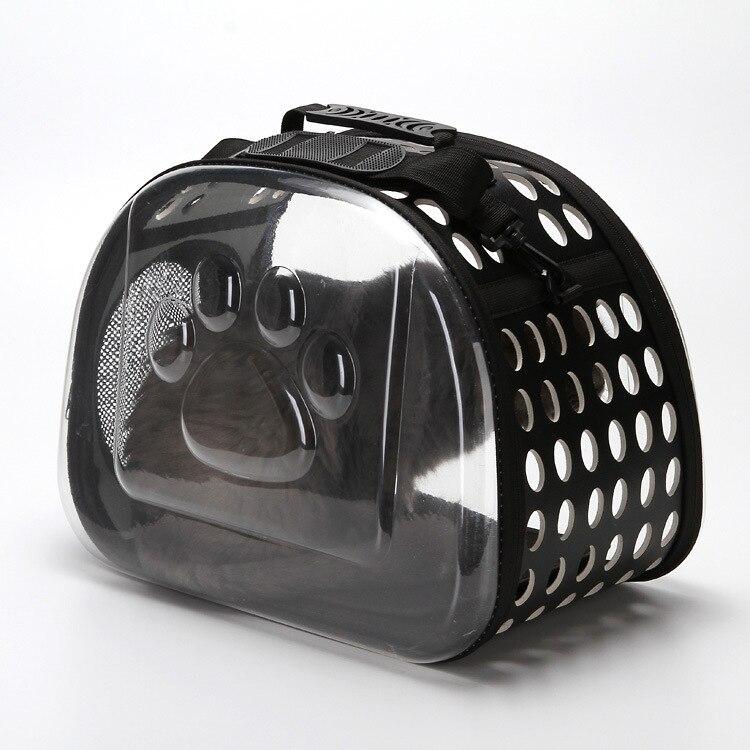 Transparent portable Pet transporteur maille confort voyage fourre-tout sac à bandoulière chat chien chiot petit Animal respirant porte-fronde