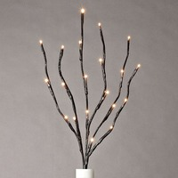 20 Warm White Lights Christmas Branch Light Garden Battery Operated Willow Branch Wedding Table Decoration Branch