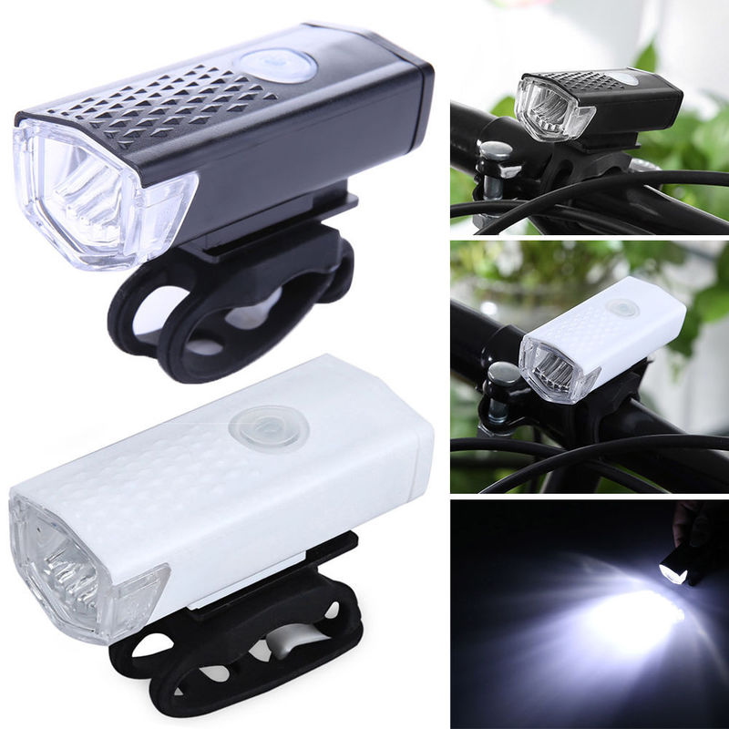 Bike Light USB Rechargeable 300 Lumen 3 Mode Bicycle Front Light Lamp Bike Headlight Cycling LED Flashlight Lantern