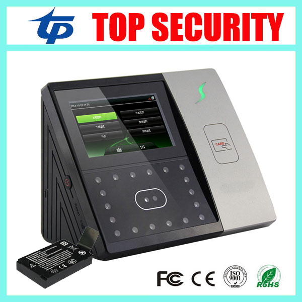 ZK face time attendance with back up battery EM card door access control with tcp ip