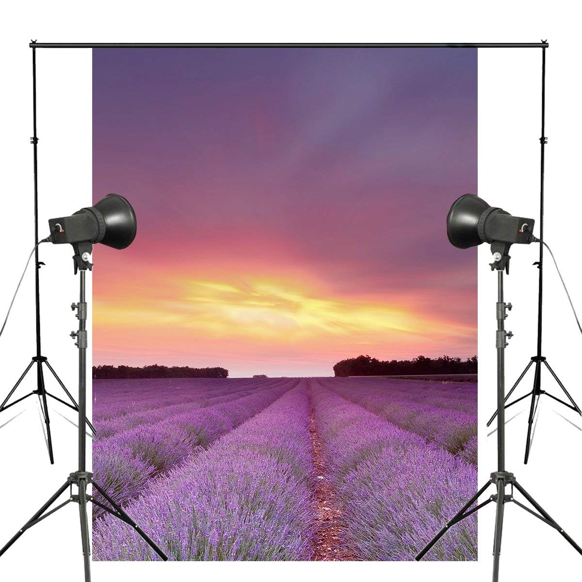 Lavandula Fields Sky Clouds Flowers Photography Background Sunset Sunrise Backdrop Studio Props Wall 150x220cmLavandula Fields Sky Clouds Flowers Photography Background Sunset Sunrise Backdrop Studio Props Wall 150x220cm