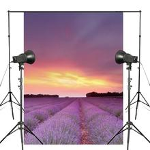 Lavandula Fields Sky Clouds Flowers Photography Background Sunset Sunrise Backdrop Studio Props Wall 150x220cm