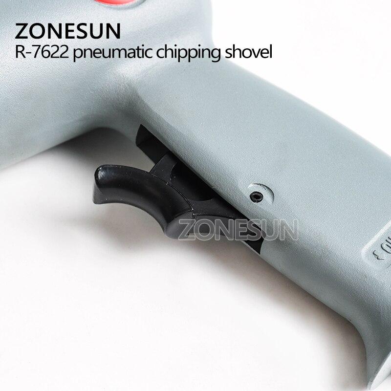 ZONESUN R-7622 Industrial Pneumatic Air Shovel Set Air Tools Air Chisel Air Rust Remover Wind Shovel Brake Repair With 4 Head