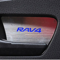 For 2013 2014 2015 2016 Toyota RAV4 Emblems Stainless Steel Interior Door Handle Bowl Inside Door Bowl Trim Car Accessories 4PCS
