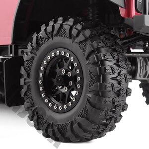 Image 5 - INJORA 4PCS 2.2 Rubber Mud Grappler Tires 120*43MM for 1:10 RC Rock Crawler Axial SCX10 SCX10 II 90046 90047 Traxxas TRX 4 TRX4