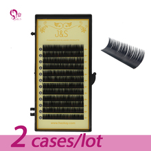 J&S 3D Eyelash Extension 0.07 Thickness Eye Lash Silk Natural Color Hand Made Korean Heat Resistant All Size Free Shipping