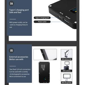 Image 4 - Manbily MFL 06 Mini Portable Photography Lighting Ultral Thin 4500mAh LED Video Light 180 LEDs Fill Light High CRI>96 for Camera