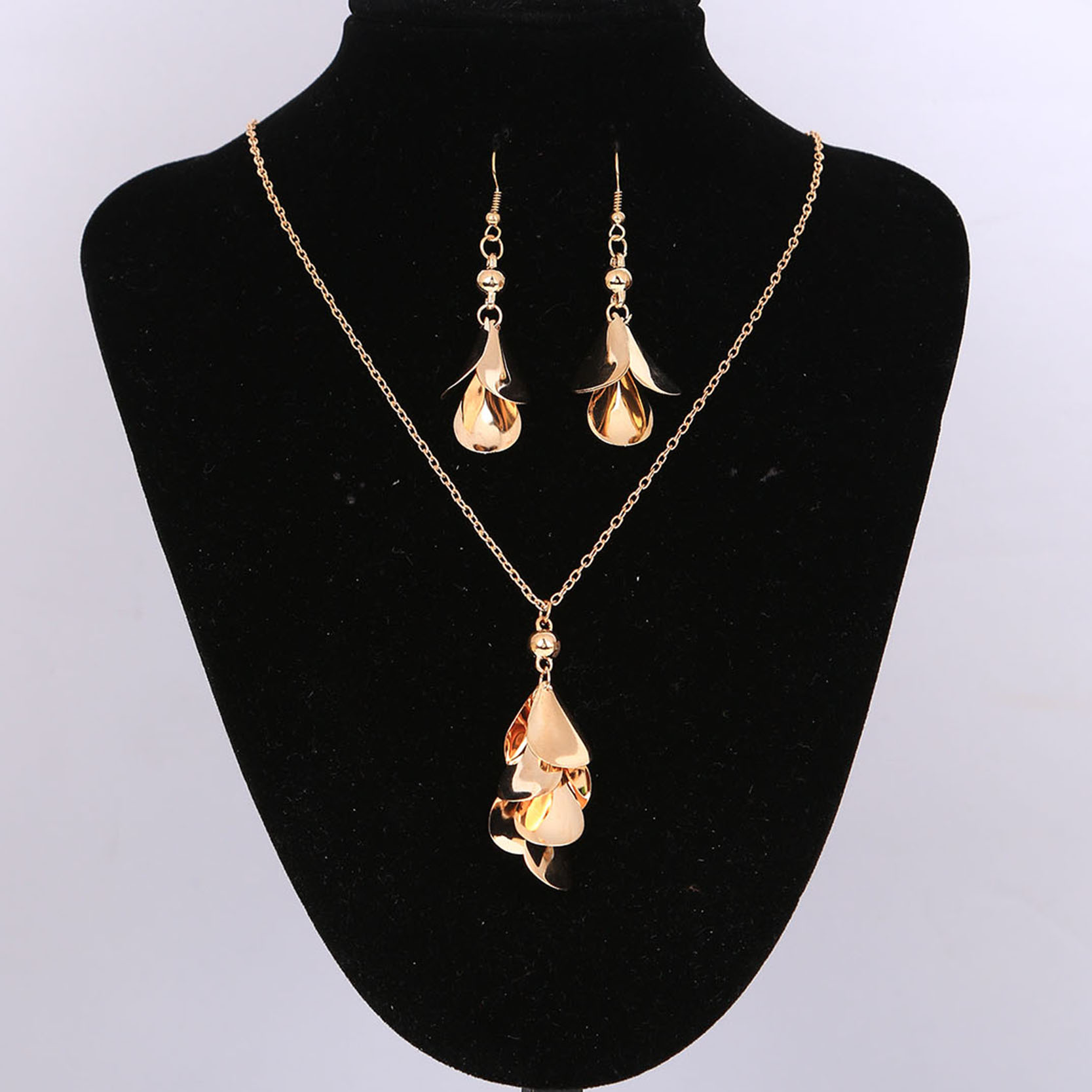 New Fashion High Quality Jewelry Sets Leaves Hook Hollow ...