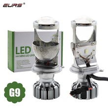 EURS G9 Lens H4 Led Bulb Headlight Mini Projetor Car/Motorcycle H4 Led Headlight Bulb 5000k 12v/24v H4 Led Canbus Bulb For Cars 7 led headlight for motorcycle projector led bulb projector h4 h13 motorcycle headlight