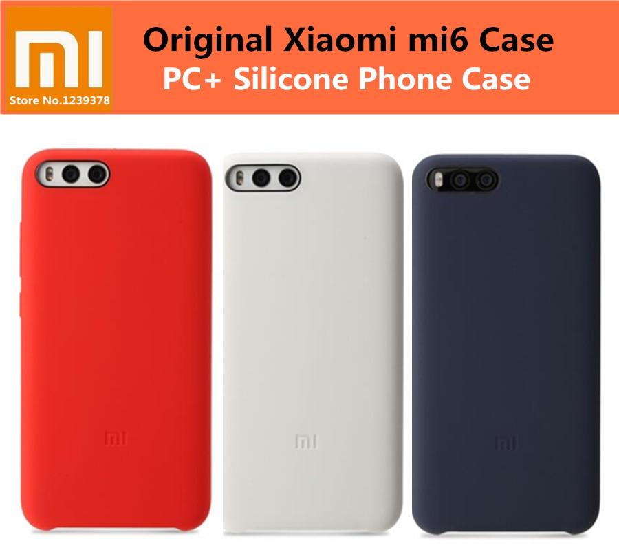 Funda oficial 100% Original Xiaomi mi6 para Xiaomi mi 6 m6 pro PC + funda trasera de silicona para xiaomi 6 5,15 pulgadas Coque