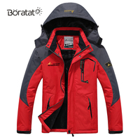 Ski Jacket Men Ski Suit Thermal Warmth Skiing Snowboarding Winter Outdoor Fleece Thick Hooded Windproof Size Sports Clothing