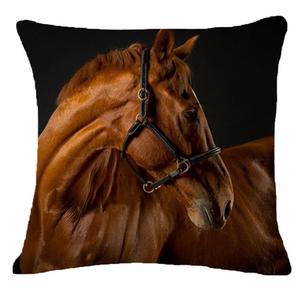 Image 5 - Creative Pillow Fashion Cartoon Animal Horse Home Decor Cotton Linen Cushion Cover 45cm*45cm #35