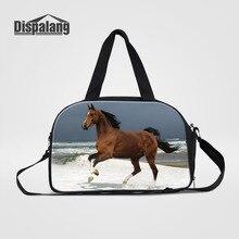 Dispalang Men's Travel Bags Horse Animal Print Large Men Crossbody Bags Travel Duffle Handbags Big Womens Luggage Shoulder Bags