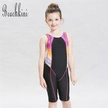 Цельный купальник для девочек; Очаровательный детский купальник без рукавов и с длинными рукавами; пляжная одежда; боди; Новое поступление